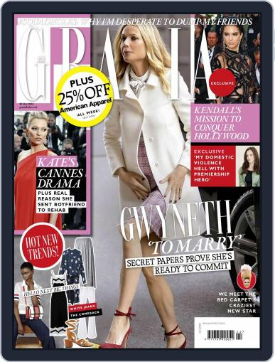 Grazia May 24th, 2016 Digital Back Issue Cover