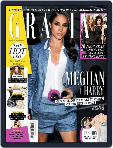 Grazia January 9th, 2017 Digital Back Issue Cover