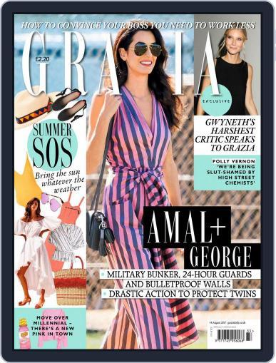 Grazia (Digital) August 14th, 2017 Issue Cover