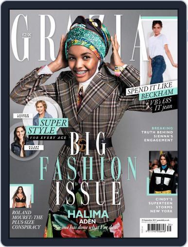 Grazia September 25th, 2017 Digital Back Issue Cover