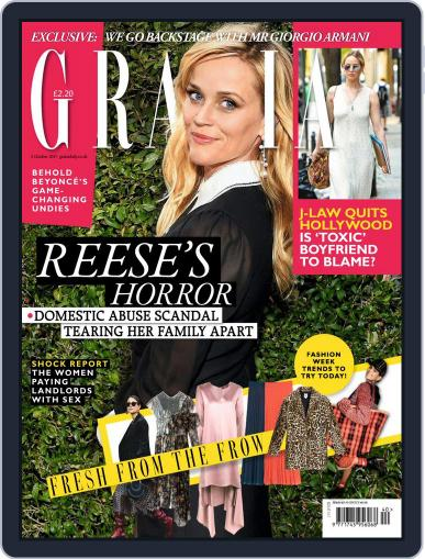 Grazia October 2nd, 2017 Digital Back Issue Cover