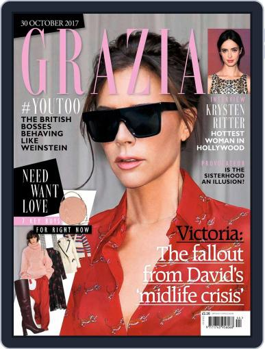 Grazia October 30th, 2017 Digital Back Issue Cover