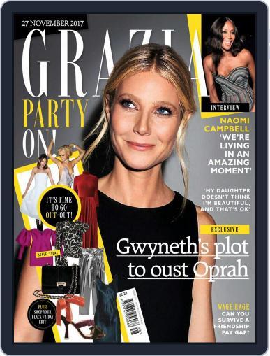 Grazia (Digital) November 27th, 2017 Issue Cover
