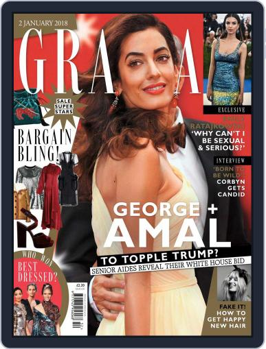 Grazia (Digital) January 2nd, 2018 Issue Cover