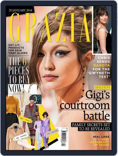 Grazia (Digital) January 29th, 2018 Issue Cover