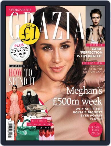Grazia (Digital) February 5th, 2018 Issue Cover