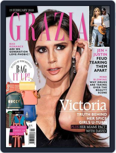 Grazia (Digital) February 19th, 2018 Issue Cover