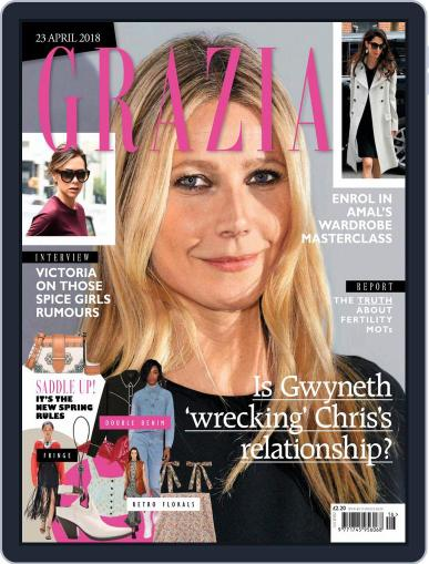 Grazia (Digital) April 23rd, 2018 Issue Cover