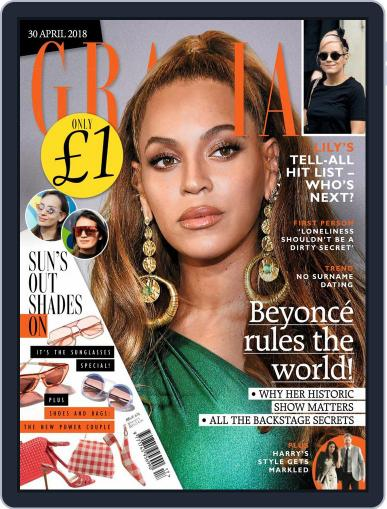 Grazia (Digital) April 30th, 2018 Issue Cover