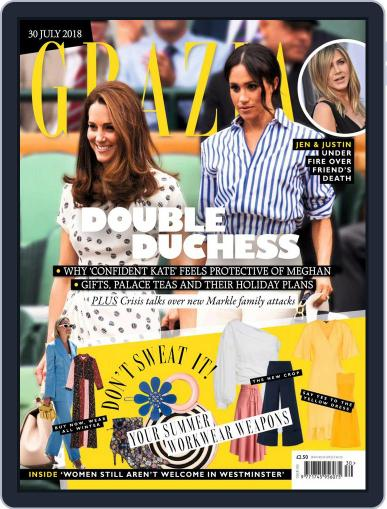 Grazia July 30th, 2018 Digital Back Issue Cover