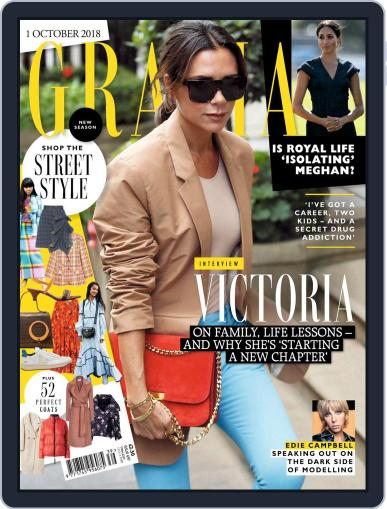Grazia (Digital) October 1st, 2018 Issue Cover