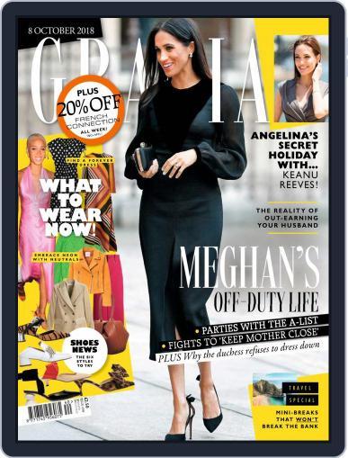 Grazia (Digital) October 8th, 2018 Issue Cover