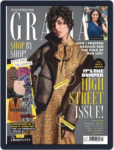 Grazia October 29th, 2018 Digital Back Issue Cover
