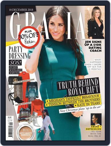 Grazia December 10th, 2018 Digital Back Issue Cover