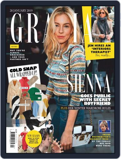 Grazia (Digital) January 28th, 2019 Issue Cover