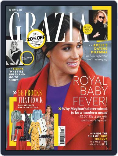 Grazia May 13th, 2019 Digital Back Issue Cover