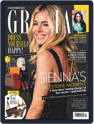 Grazia November 25th, 2019 Digital Back Issue Cover