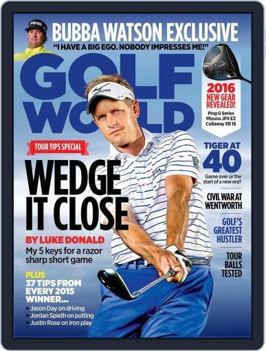 Golf World United Kingdom (Digital) January 14th, 2016 Issue Cover
