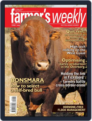 Farmer's Weekly May 13th, 2013 Digital Back Issue Cover