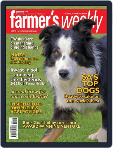 Farmer's Weekly October 13th, 2013 Digital Back Issue Cover