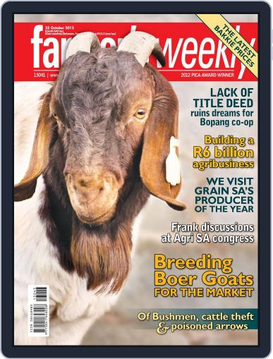 Farmer's Weekly October 20th, 2013 Digital Back Issue Cover