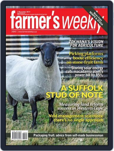 Farmer's Weekly November 3rd, 2014 Digital Back Issue Cover
