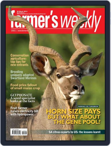 Farmer's Weekly (Digital) March 16th, 2015 Issue Cover