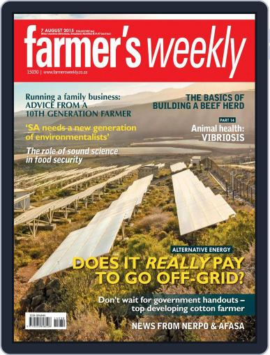 Farmer's Weekly (Digital) August 7th, 2015 Issue Cover