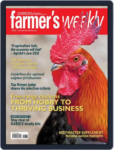 Farmer's Weekly August 14th, 2015 Digital Back Issue Cover