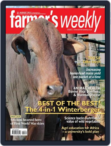 Farmer's Weekly (Digital) August 21st, 2015 Issue Cover