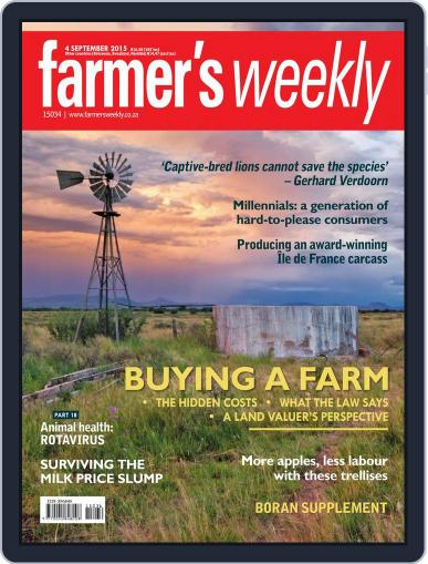 Farmer's Weekly (Digital) September 4th, 2015 Issue Cover
