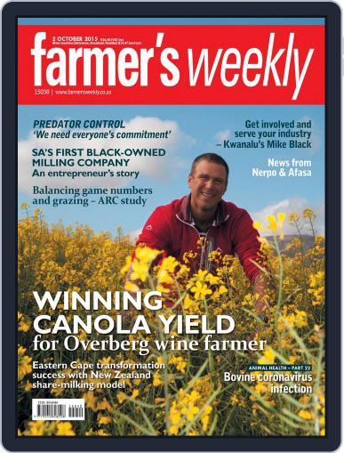 Farmer's Weekly October 2nd, 2015 Digital Back Issue Cover