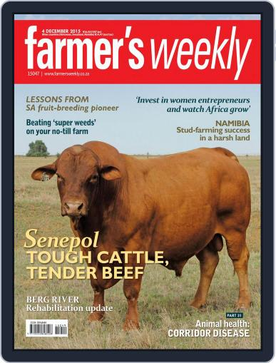 Farmer's Weekly (Digital) December 4th, 2015 Issue Cover