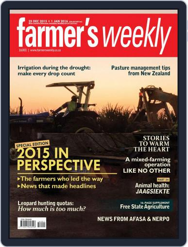 Farmer's Weekly December 25th, 2015 Digital Back Issue Cover