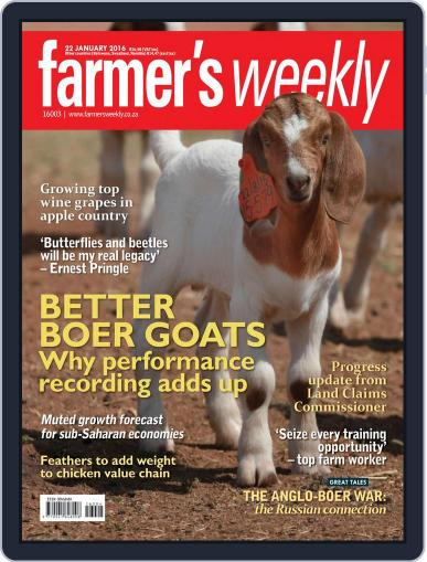 Farmer's Weekly (Digital) January 22nd, 2016 Issue Cover