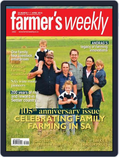 Farmer's Weekly (Digital) March 21st, 2016 Issue Cover