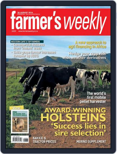 Farmer's Weekly (Digital) August 25th, 2016 Issue Cover
