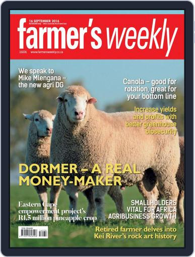 Farmer's Weekly (Digital) September 16th, 2016 Issue Cover