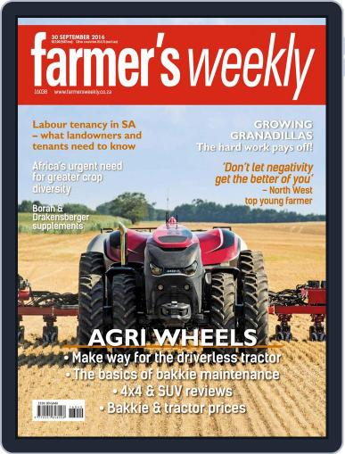 Farmer's Weekly (Digital) September 30th, 2016 Issue Cover