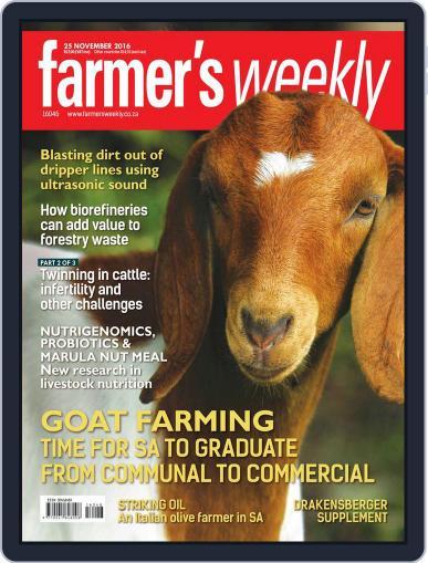 Farmer's Weekly November 25th, 2016 Digital Back Issue Cover