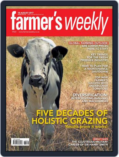 Farmer's Weekly (Digital) August 18th, 2017 Issue Cover