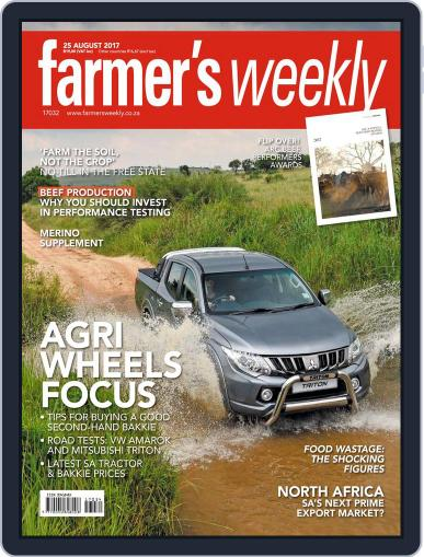 Farmer's Weekly (Digital) August 25th, 2017 Issue Cover