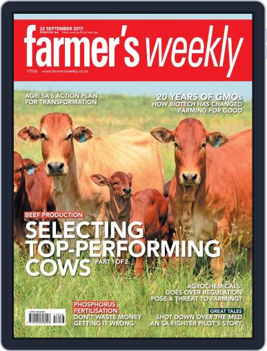 Farmer's Weekly (Digital) September 22nd, 2017 Issue Cover