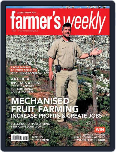 Farmer's Weekly (Digital) September 29th, 2017 Issue Cover