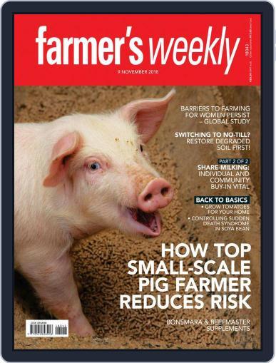 Farmer's Weekly (Digital) November 9th, 2018 Issue Cover