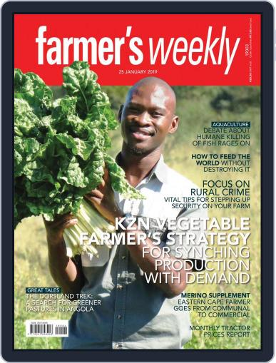 Farmer's Weekly January 25th, 2019 Digital Back Issue Cover