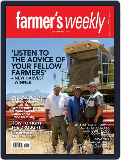 Farmer's Weekly (Digital) February 15th, 2019 Issue Cover