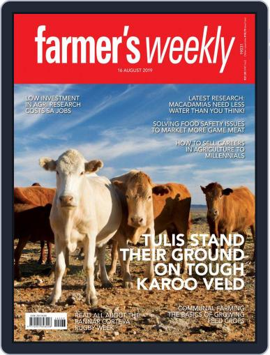 Farmer's Weekly (Digital) August 16th, 2019 Issue Cover