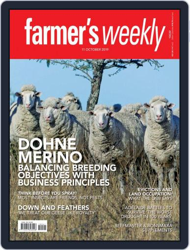 Farmer's Weekly (Digital) October 11th, 2019 Issue Cover
