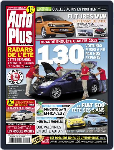 Auto Plus France July 29th, 2012 Digital Back Issue Cover